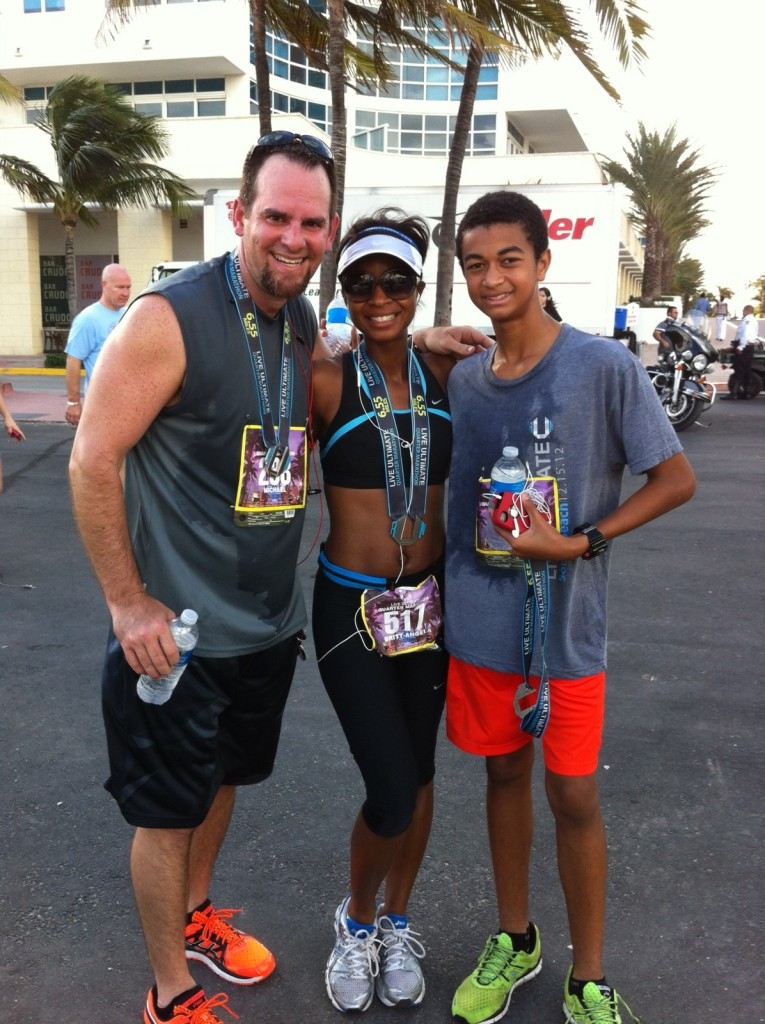 Race completed, medals earned!